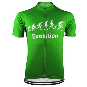 Evolution Of Man Cycling Jersey - Green - Granny Gear