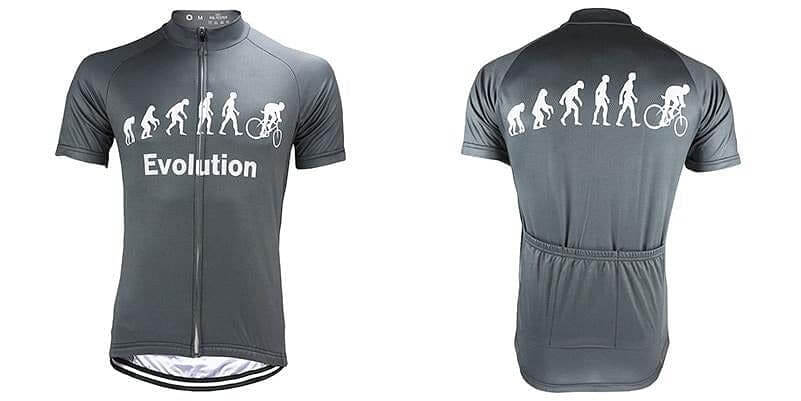 Evolution Of Man Cycling Jersey - Grey - Granny Gear