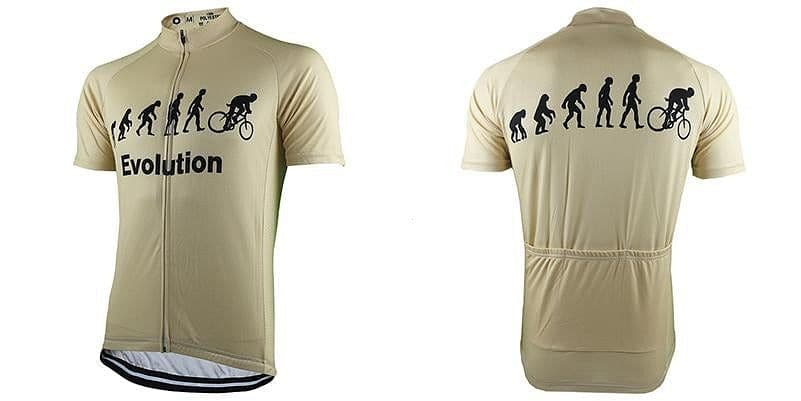 Evolution Of Man Cycling Jersey - Beige - Granny Gear
