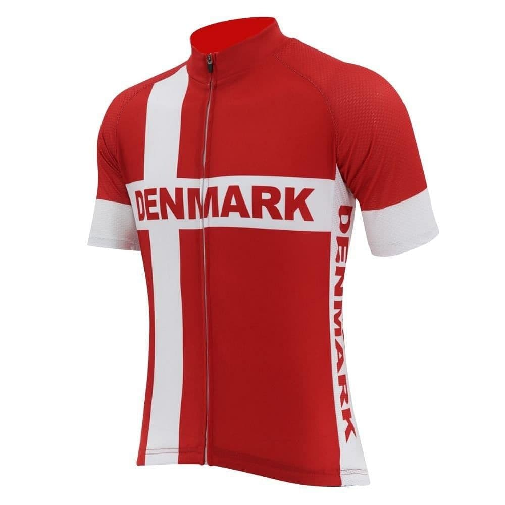 Denmark Flag Cycling Jersey - Granny Gear