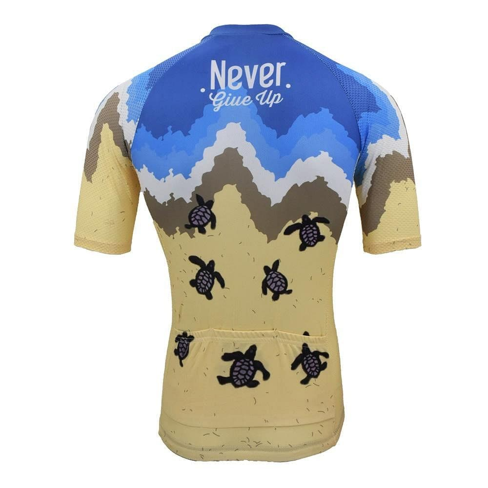Never Give Up Turtle Cycling Jersey - Granny Gear