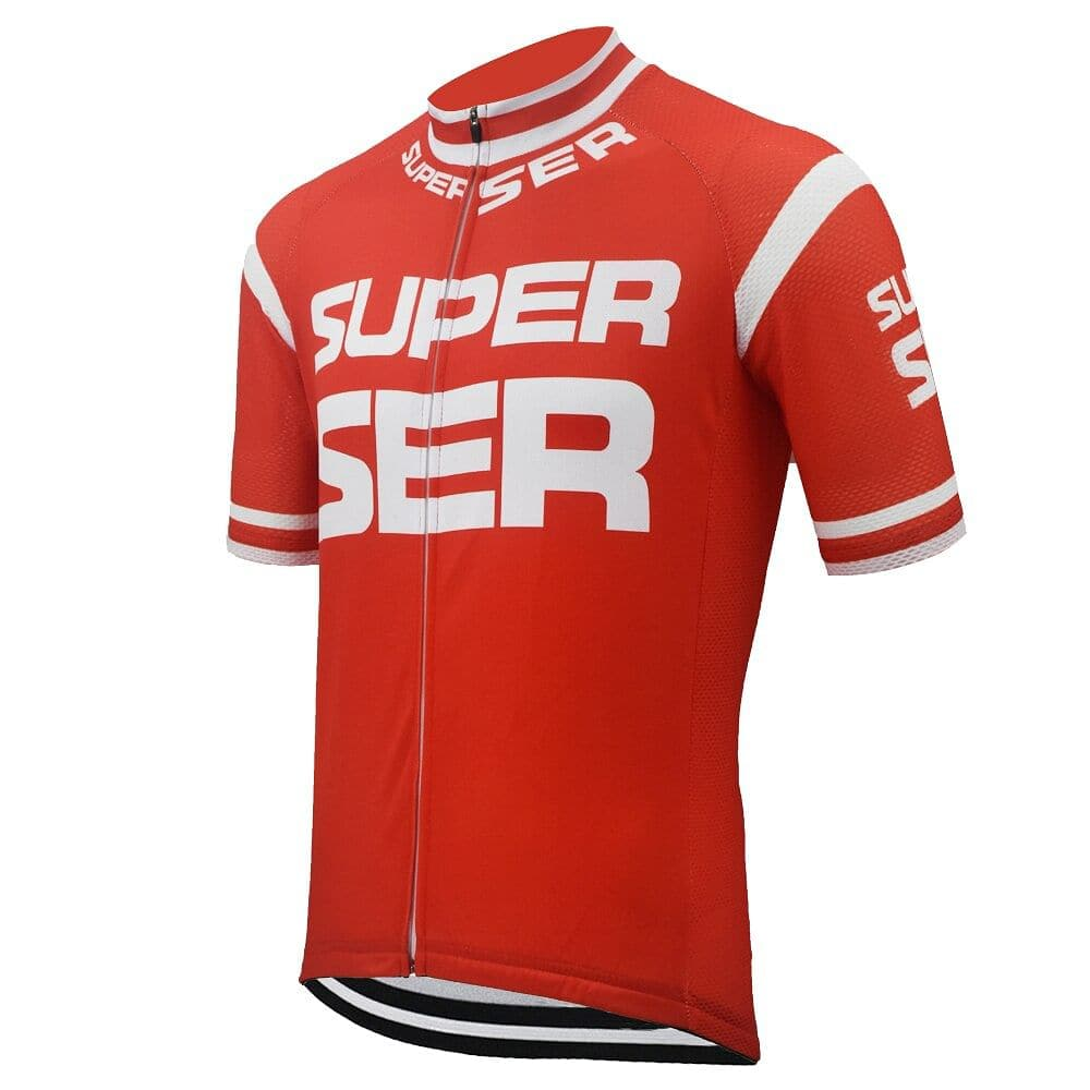 Retro Super Ser Cycling Jersey - Red - Granny Gear