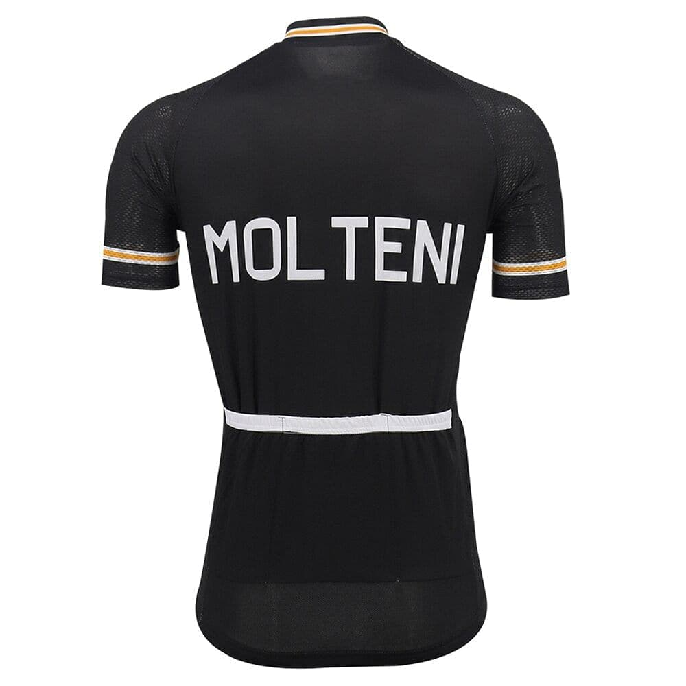 Retro Molteni Cycling Jersey - Black