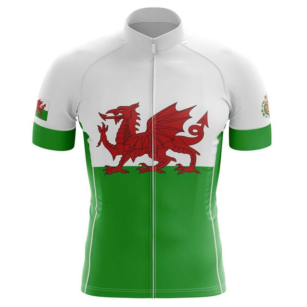 Wales Flag Cycling Jersey (Green, White & Red)