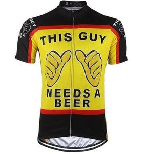This Guy Needs A Beer Cycling Jersey - Granny Gear