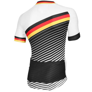 Retro Germany Deutschland Flag Cycling Jersey - Granny Gear