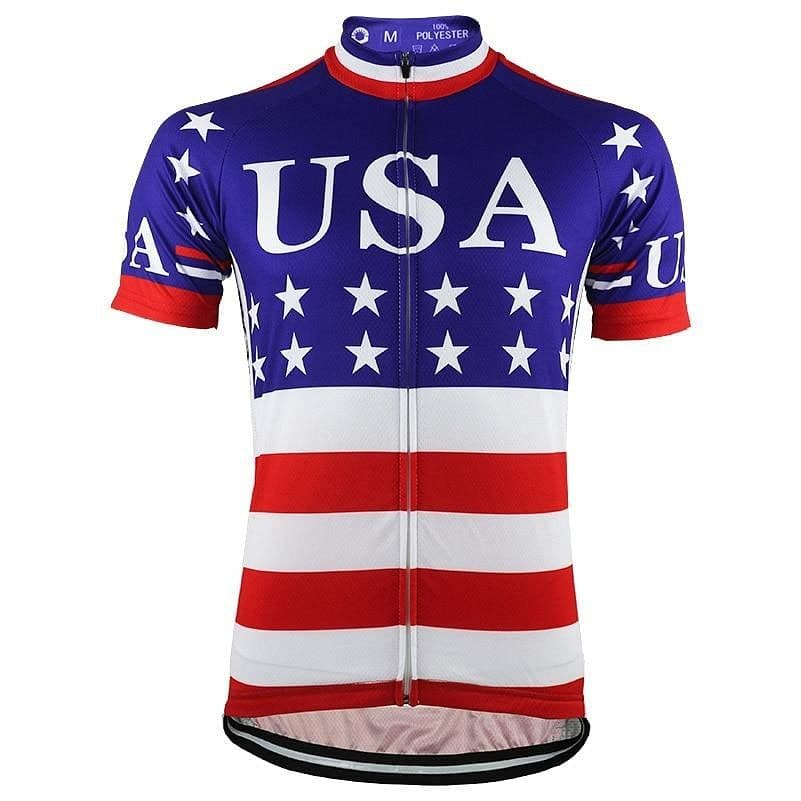 USA Flag Cycling Jersey - Granny Gear