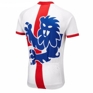 England Flag 3 Lions Cycling Jersey - Granny Gear