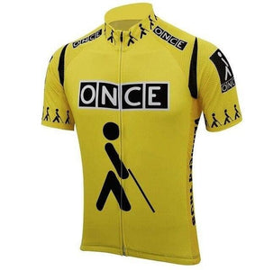 Retro Once Cycling Jersey - Yellow