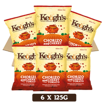 Load image into Gallery viewer, Chorizo & Cherry Tomato Crisps 6x125g