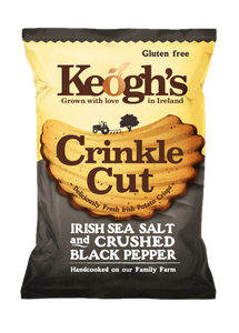 Crinkle Cut Atlantic Sea Salt and Crushed Black Pepper Crisps 12x50g