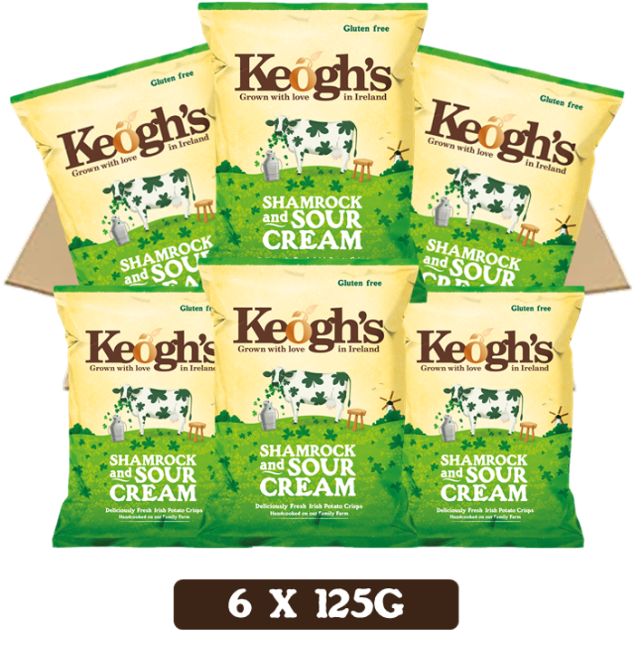 Shamrock & Sour Cream Crisps 6X125g