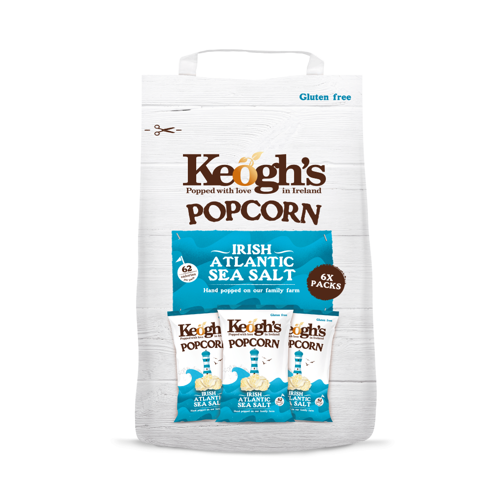 Irish Atlantic Sea Salt Popcorn Multipack