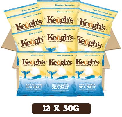 Irish Atlantic Sea Salt Crisps 12x50g