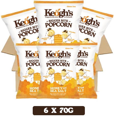 Honey and Sea Salt Popcorn 6x90g
