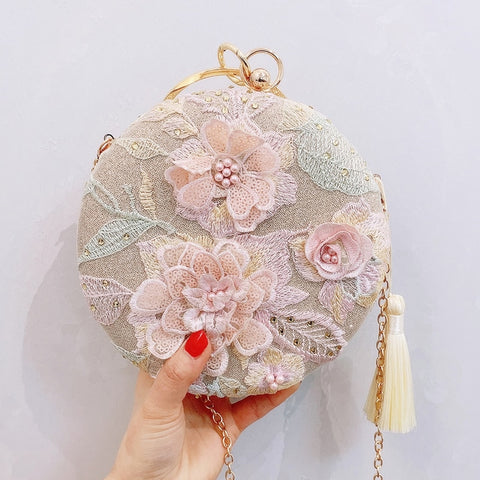 2020 luxurious handmade flower bag