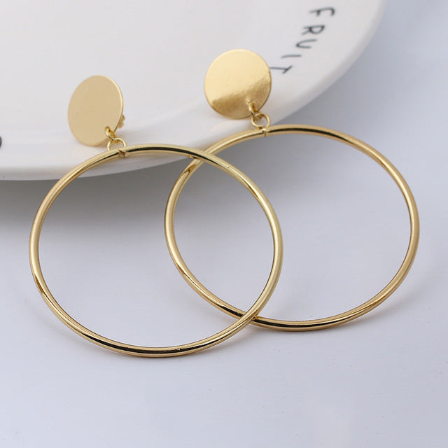Simple Fashion Big Round Earring