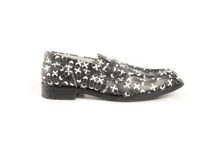 COW1380 BLACK FT.WHITE - Collegemoccassin
