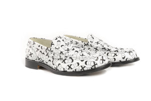 COW1380 WHITE FT.BLACK - Collegemoccassin