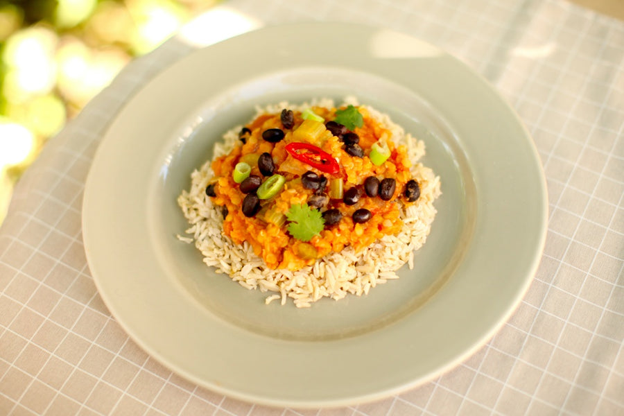 Vegetarian Dal with Rice