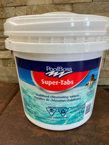 "Capo Pool Boss Super Tabs - 3"" Chlorine Pucks 6 Kilo"