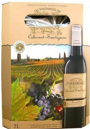 Cabernet Sauvignon Jean d´Aosque IGP Oc Bag In Box