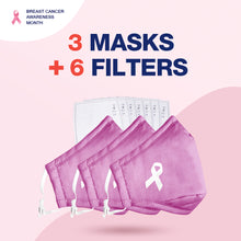 Load image into Gallery viewer, Pink Ribbon Face Covers -Breast Cancer Awareness Month Deal