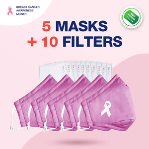 Pink Ribbon Face Covers -Breast Cancer Awareness Month Deal