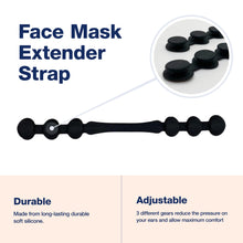 Load image into Gallery viewer, 4 Large Reusable Cloth Face Covers + 2 Extender Straps