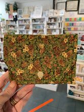 Load image into Gallery viewer, Fabric Purse - card wallet - Green/Floral - Gemstone Boutique