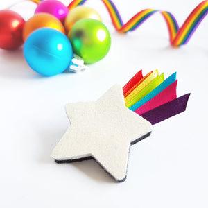 Christmas Star Felt Brooch - Life is Better in Colour