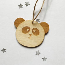 Load image into Gallery viewer, Wooden hanging decorations - HuandMee - Panda - Cat