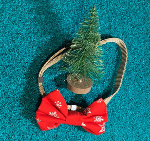 Christmas Pet Bowties - Cats and Dogs - Christmas Pets - Dawny's Sewing Room