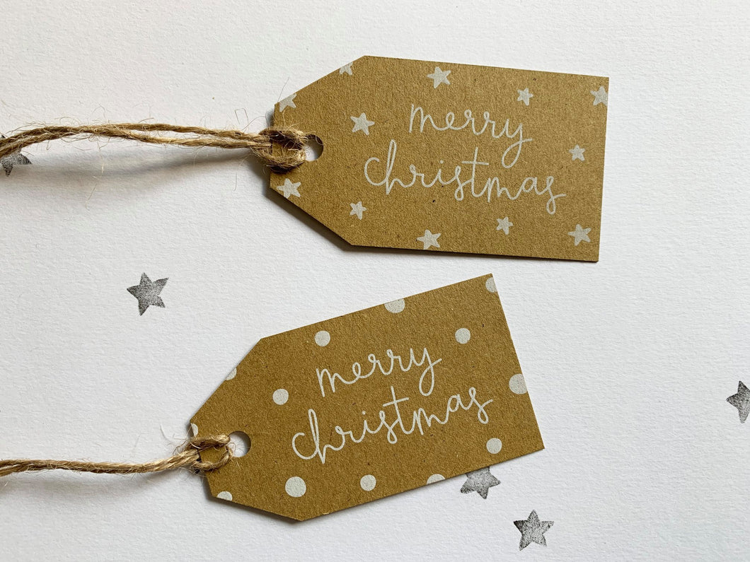 Christmas Gift Tag pack - kraft labels - HuandMee