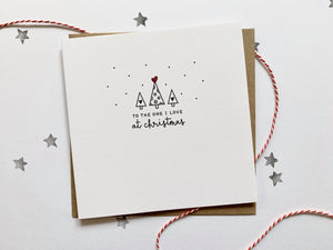 To the One I love Christmas Card - HuandMee - Christmas greetings