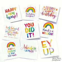 Load image into Gallery viewer, Thanks a Million - Rainbow Greetings Card - Now Then Sunshine! - Thank you card