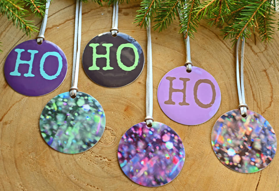 Christmas Tree Decoration - Printed Aluminium - Decoration Pack - Sarah Sanders Aluminium Jewellery