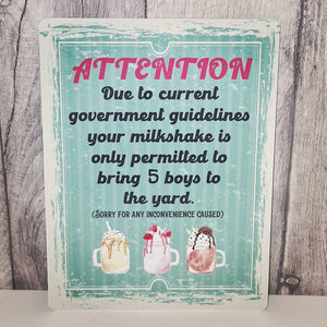 Social Distancing Retro Vintage Milkshake Sign - 2020 themed - Stay Safe - The Crafty Little Fox