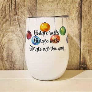 Gin lover gift - Gingle Bells - Thermal Cup - The Crafty Little Fox - Christmas Gift Idea