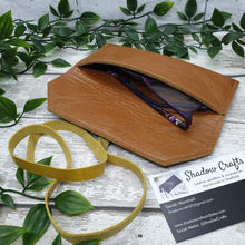 Load image into Gallery viewer, Leather Glasses case - Shadow Crafts - reusable gift idea