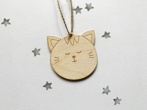 Wooden hanging decorations - HuandMee - Panda - Cat