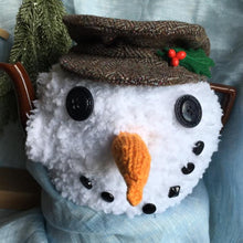 Load image into Gallery viewer, Snowman Tea Cosy - Kitschina - Knitted snow man - Christmas gift idea