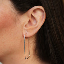 Load image into Gallery viewer, Sterling Silver Hammered Geometric Hoop Earrings - Maxwell Harrison Jewellery - gift idea