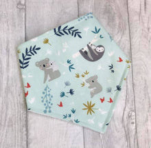 Load image into Gallery viewer, Sloth and Koala Bandana Bib - baby bib - baby, toddler gift - Sewn by Sarah