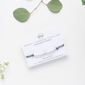 Sterling Silver Adjustable Cord Bracelets - Maxwell Harrison Jewellery - gift idea - wish bracelet