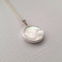 Load image into Gallery viewer, Sterling Silver Mother of Pearl necklace - Maxwell Harrison Jewellery - gift idea