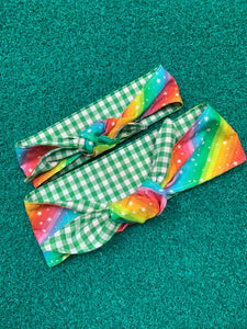 Rainbow Stars hair ties - Adult and child sizes - Dawny's Sewing Room