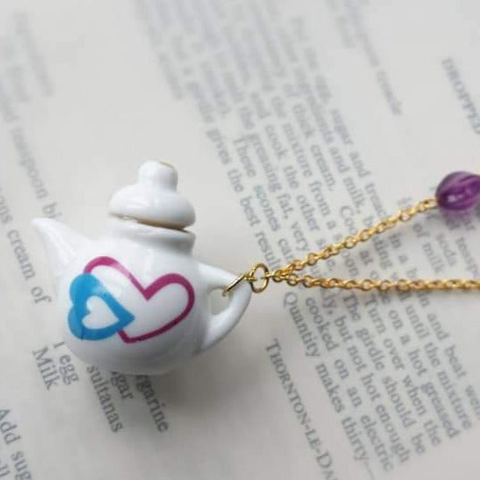 Dolls House Tea pot China Necklace - Urban Magpie - cute gift idea