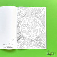 Load image into Gallery viewer, Feminist Phrases Colouring Book - Now then Sunshine! - empower and inspire - Gifts for Her