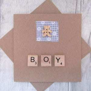 Baby Boy Card - Sewn by Sarah - New Baby - congratulations